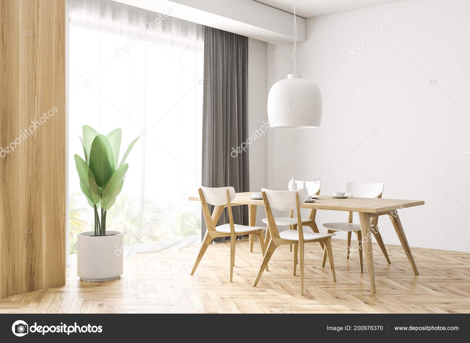 Holzfußboden Weiß ~ Weiß und holz esszimmer ecke mit einem holzfußboden ein holztisch