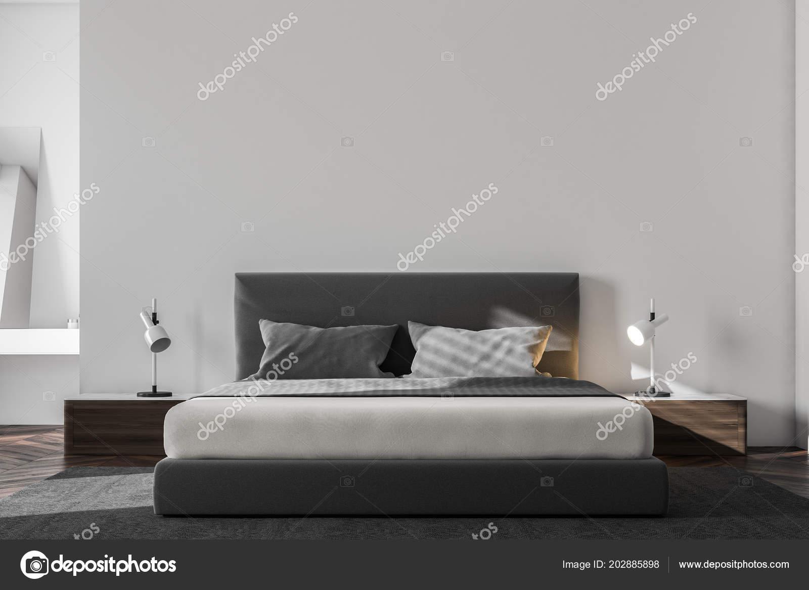 3d Fußboden Schlafzimmer ~ Luxus schlafzimmer innenraum mit weißen wänden einen hölzernen