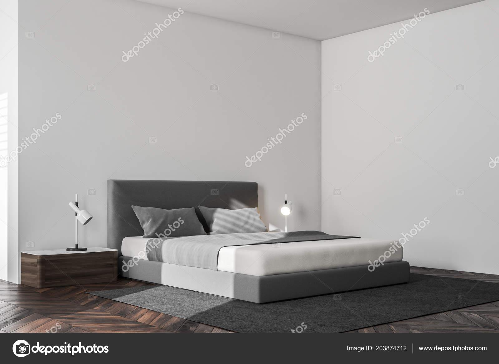 3d Fußboden Schlafzimmer ~ Minimalistisches schlafzimmer ecke mit weißen wänden einen