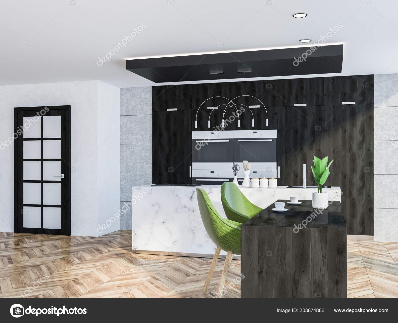 Loft Con Paredes Marmol Cocina Madera Una Blancas Mesada Suelo dBeCox