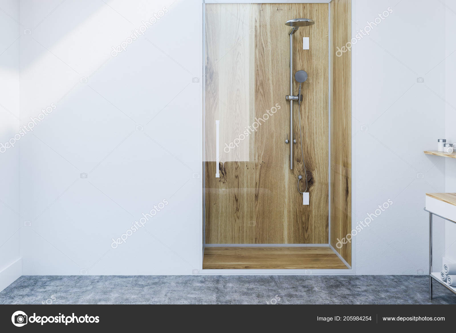 Cabina Doccia In Legno.Box Doccia Legno Con Una Porta Vetro Interno Bagno