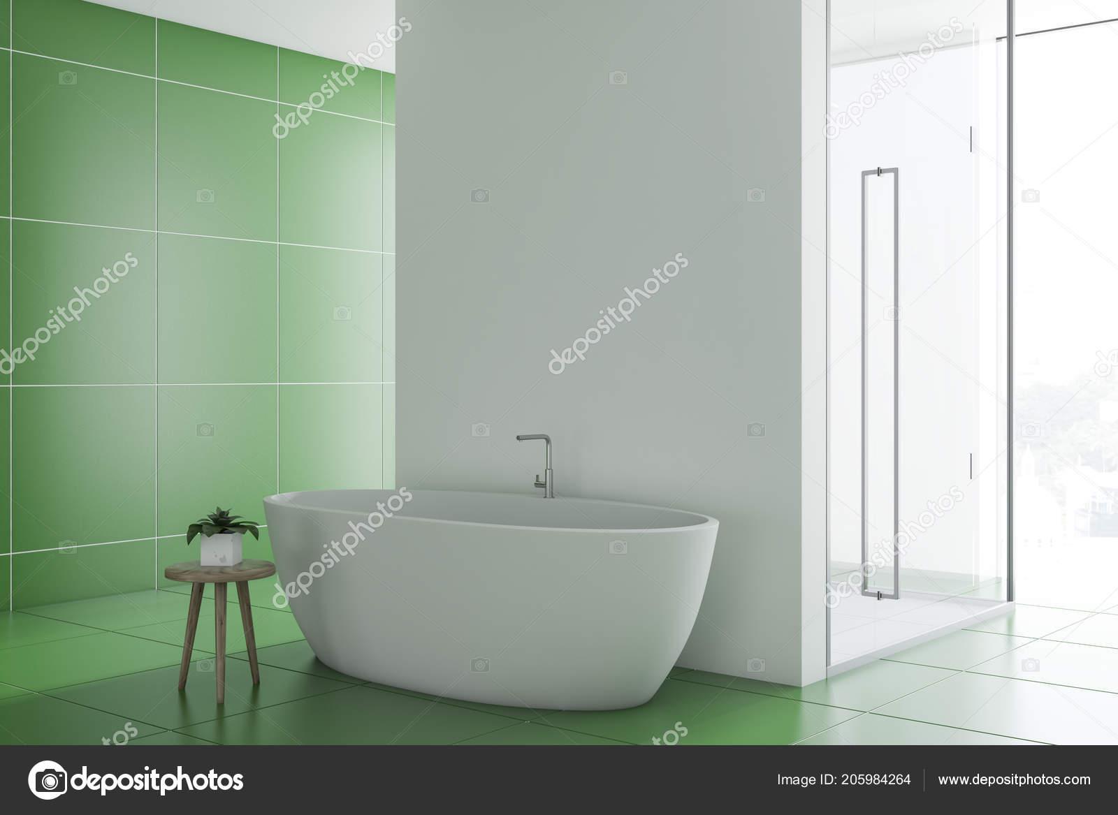 Relativ Grünen Fliesen Badezimmer Interieur Mit Eine Schöne Weiße JY22