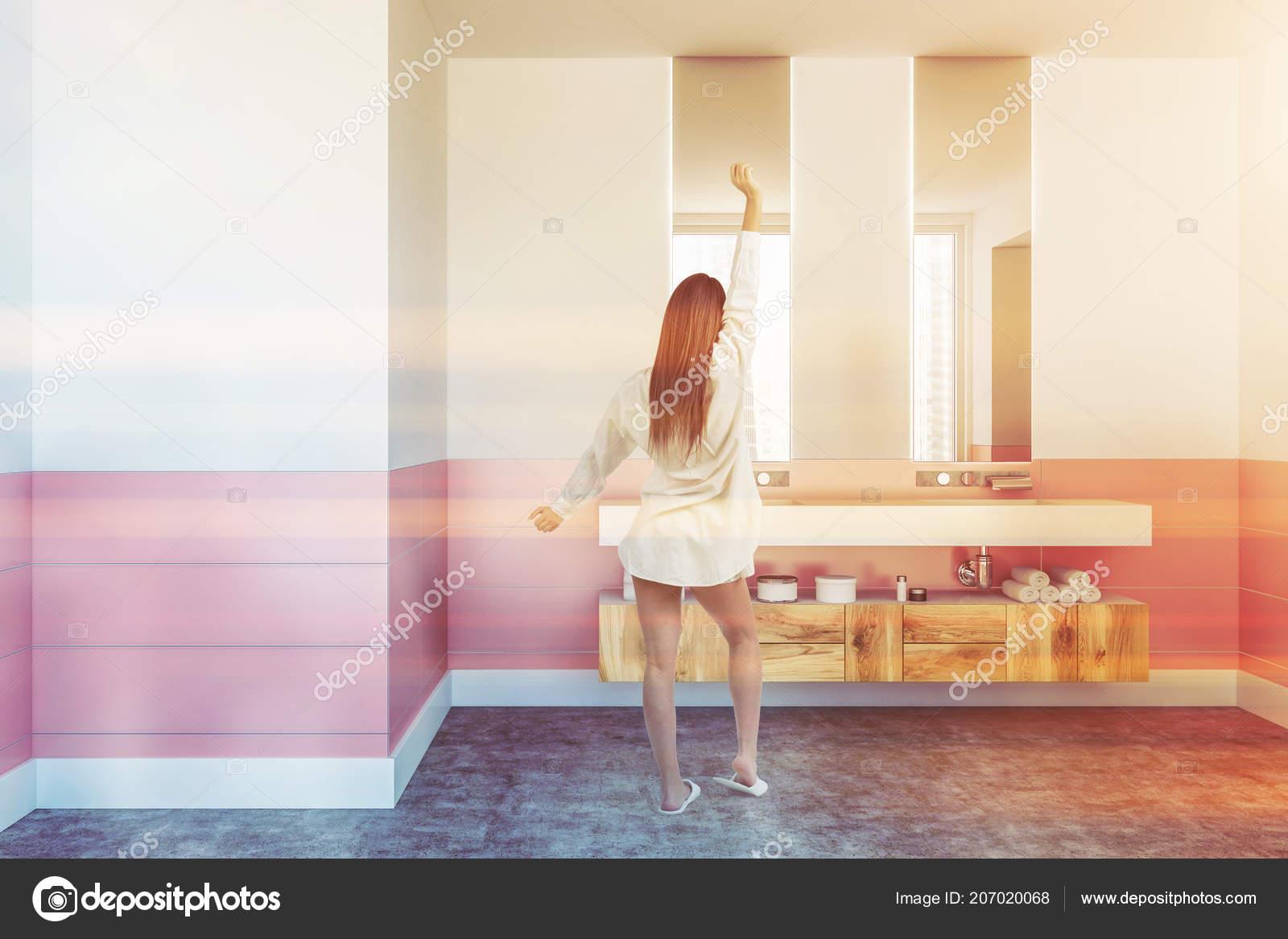 Pokój Dwuosobowy łazienka Umywalka Stojąc Białym Półka