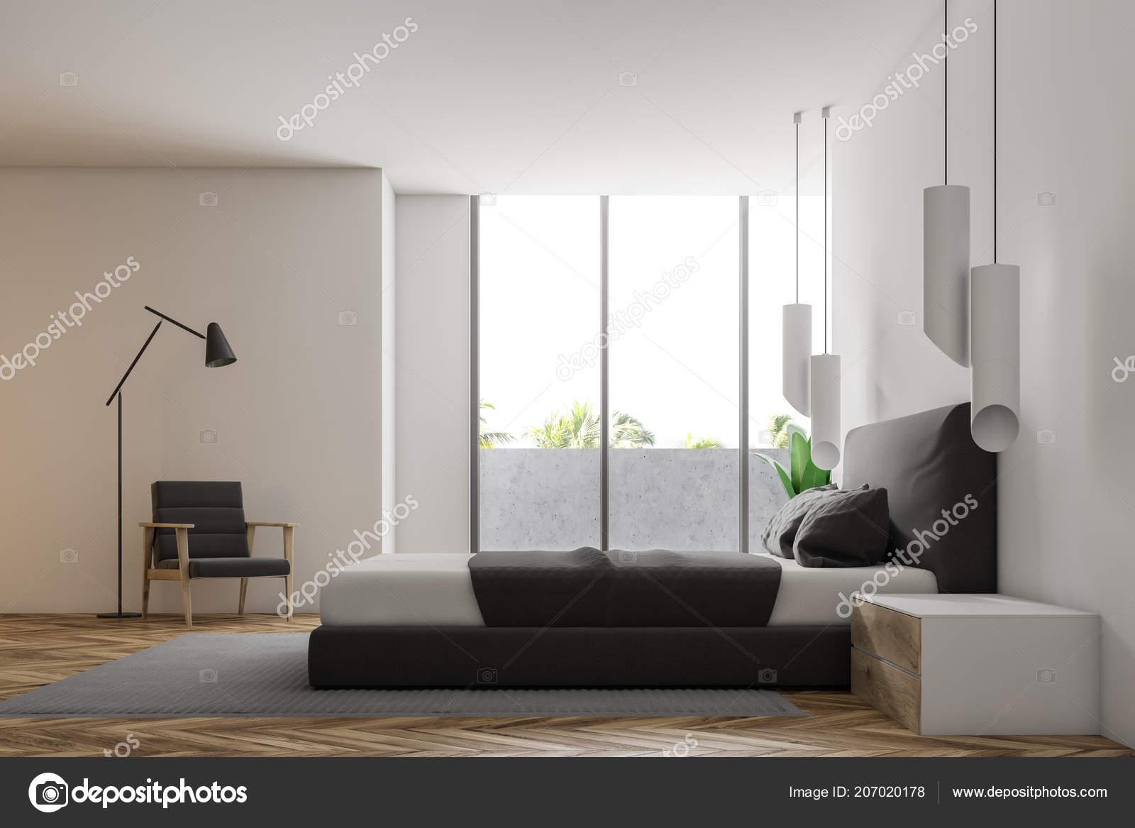 3d Fußboden Schlafzimmer ~ Luxus schlafzimmer mit weißen wänden einen hölzernen fußboden