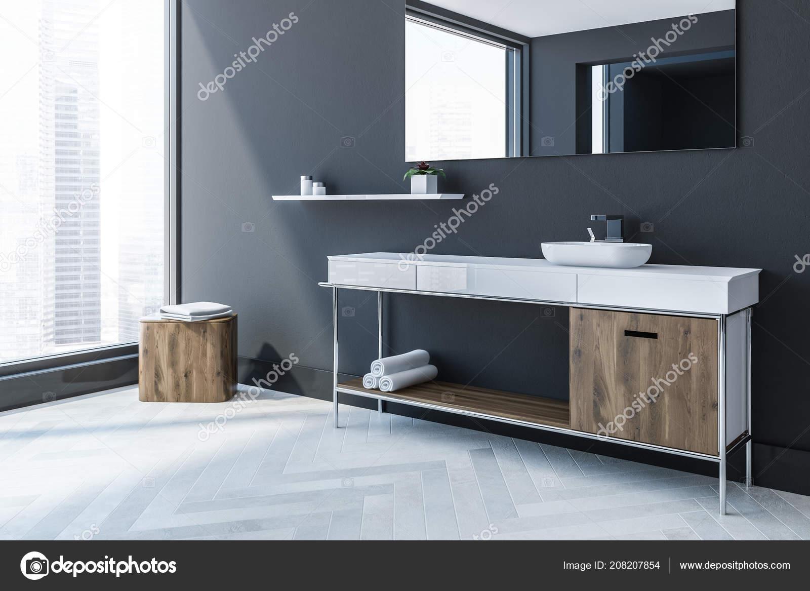 Hoek Wasbak Badkamer : Scandinavische stijl badkamer hoek met een witte houten vloer
