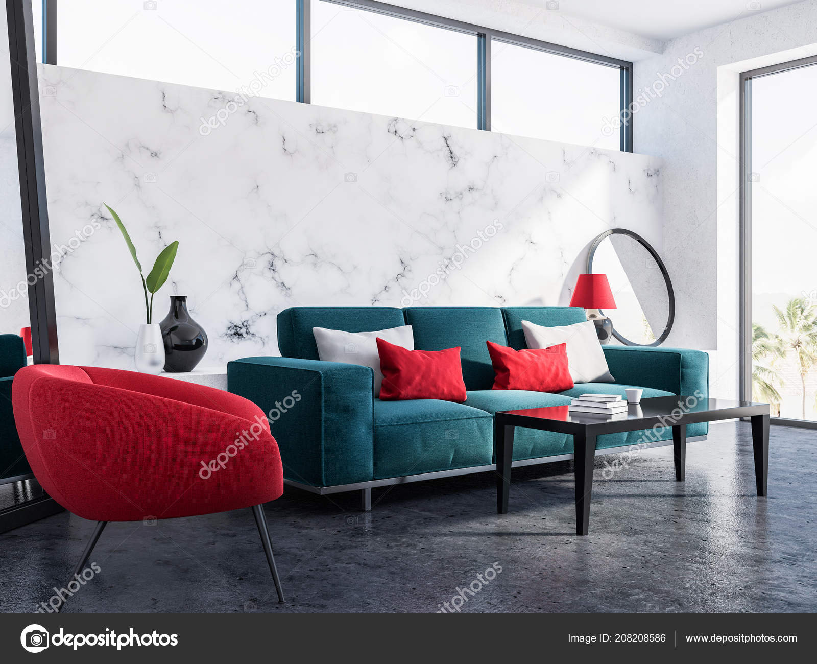 Amazing Modern Living Room Interior White Marble Walls Concrete Interior Design Ideas Oxytryabchikinfo