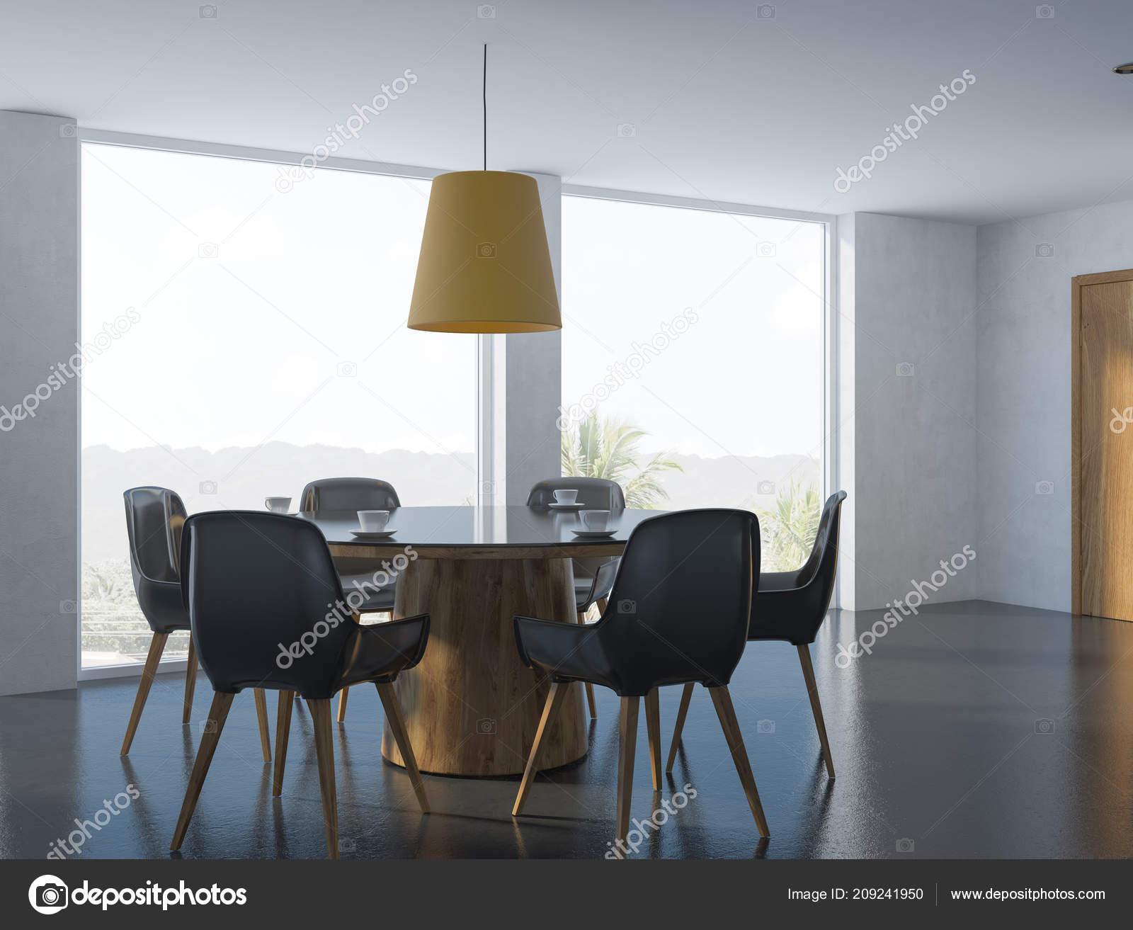 Cool Cozy Modern Dining Room Corner White Walls Black Floor Table Caraccident5 Cool Chair Designs And Ideas Caraccident5Info