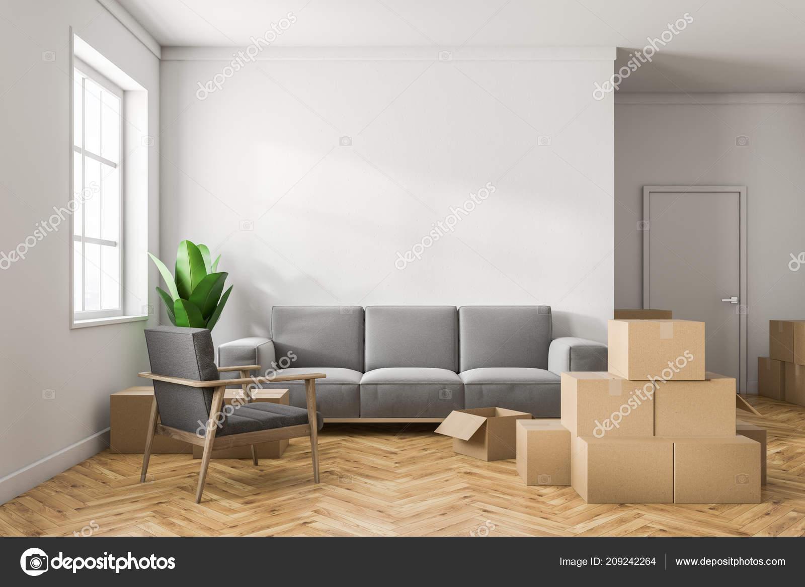 Pareti Bianche E Beige : Stanza bianca vuota interni con pareti bianche pavimenti legno una