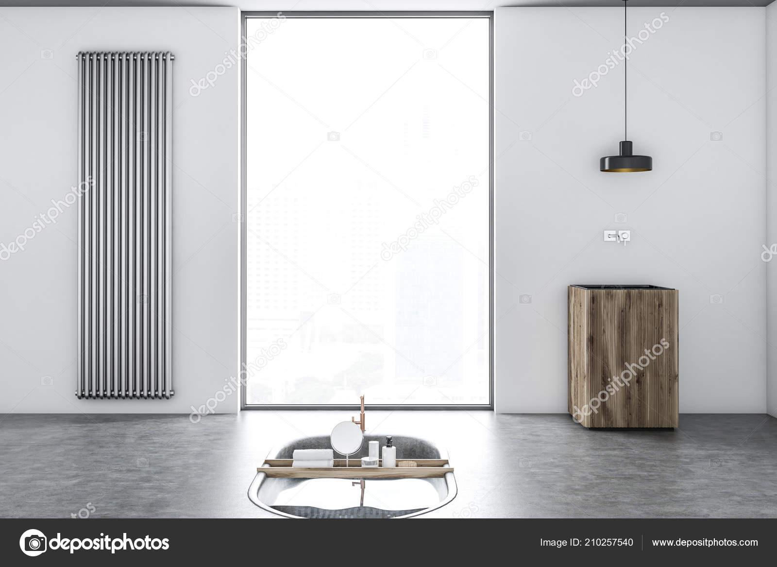 Vasca Da Lavare In Cemento : Interno bagno minimalista originale con pavimento cemento
