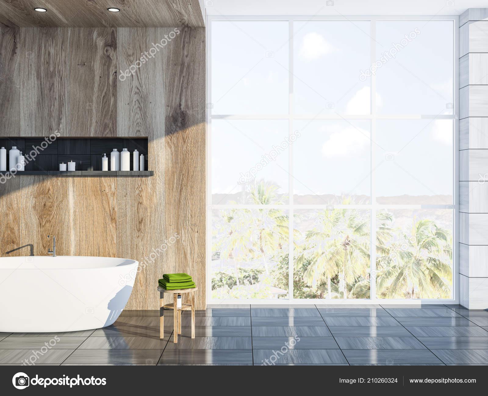 Piastrelle Da Parete Bagno : Moderno grigio legno piastrella parete bagno angolo con pavimento