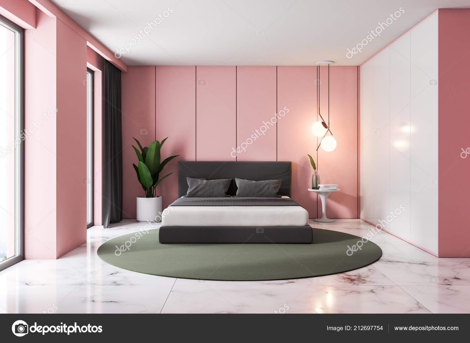 Camera Da Letto Con Pareti Rosa : Interiore della camera letto loft lusso con pareti rosa pavimento