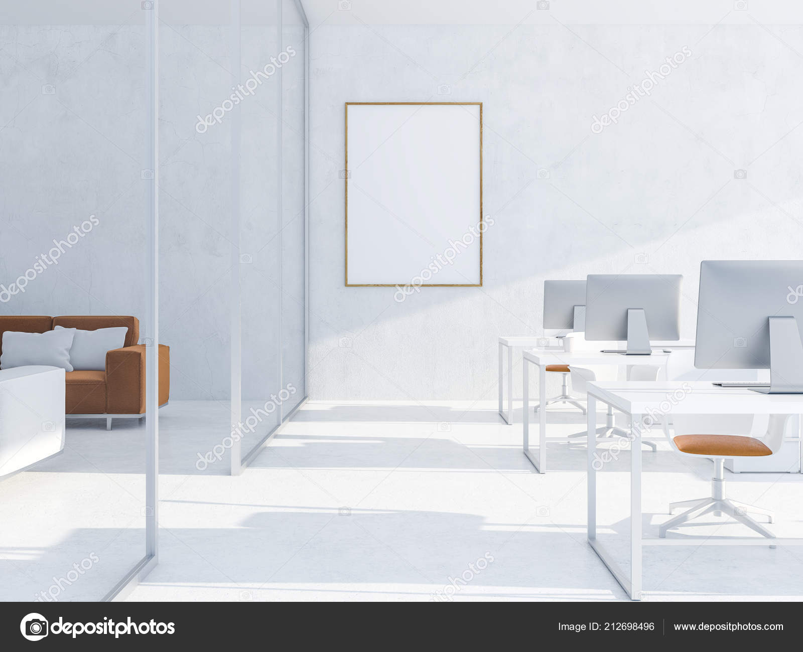 Pictures : computer desks | Modern White Office Interior ...
