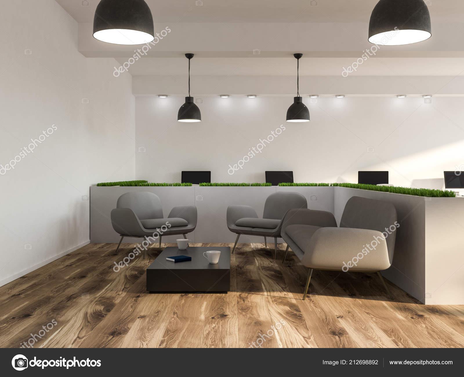 Fußboden Modern ~ Moderne büroeinrichtung wartezimmer mit weißen wänden einen