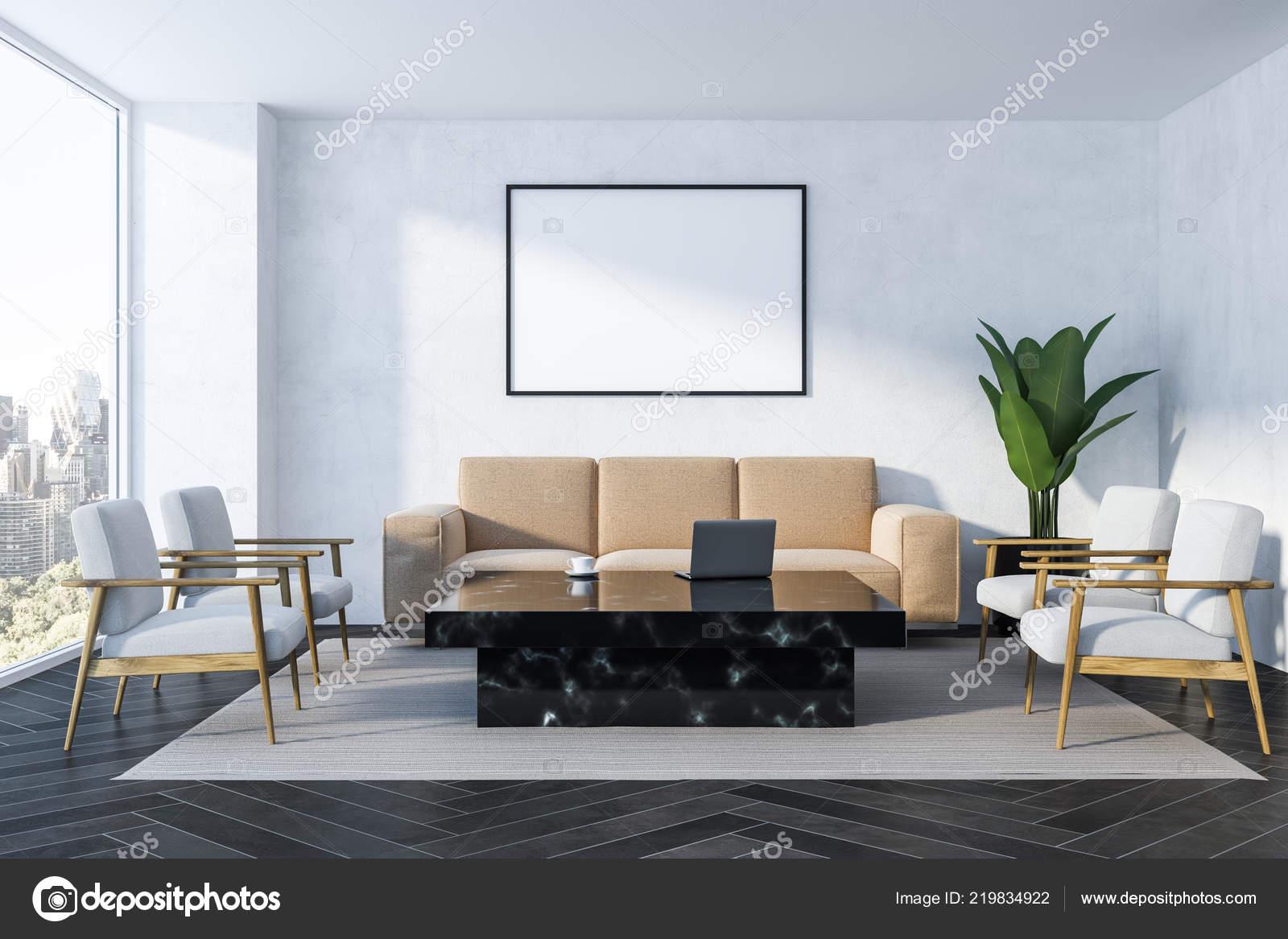 Pareti Bianche E Beige : Interno del salone bianco con pareti bianche pavimento legno