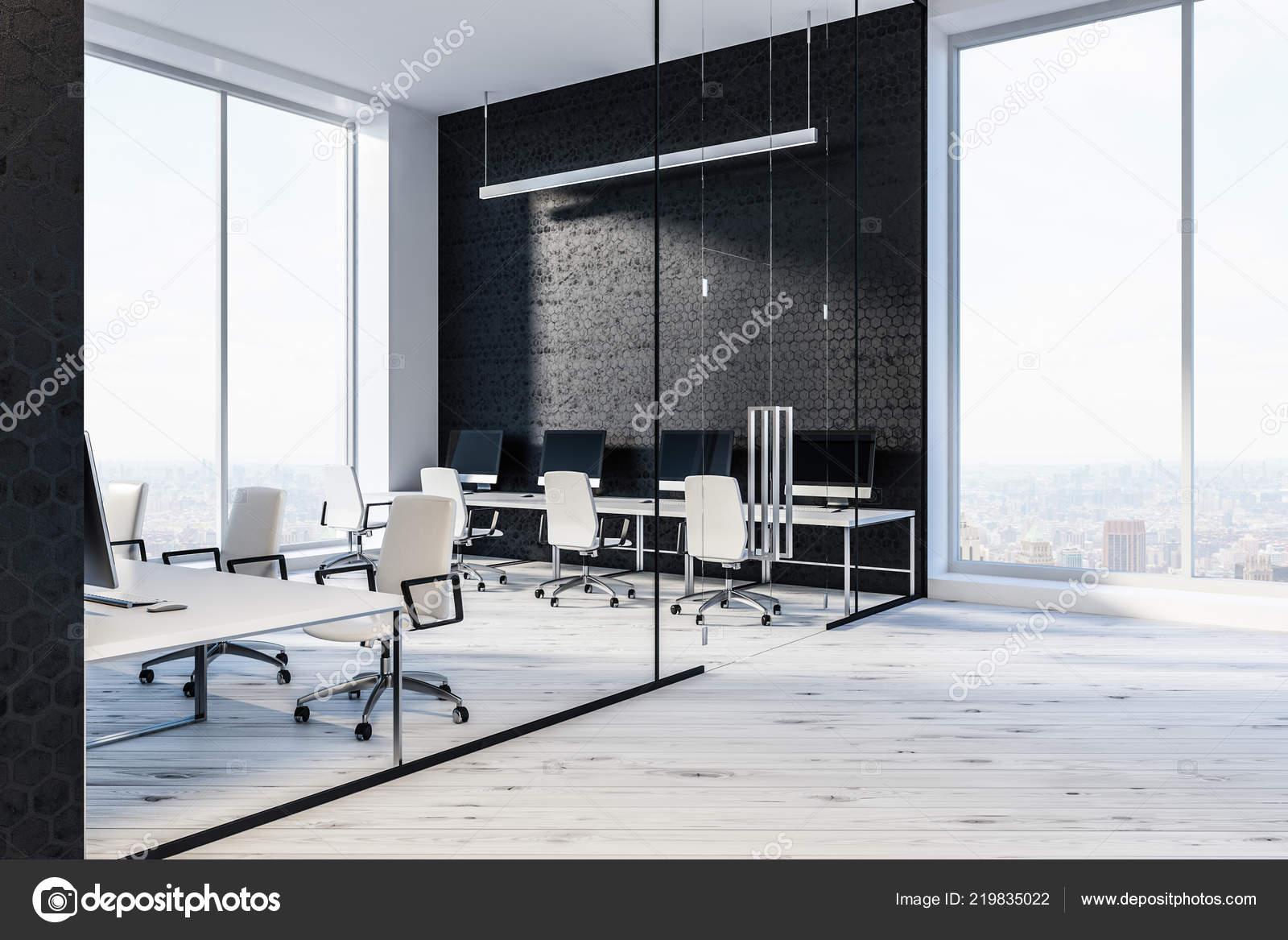 hall entr�e bureau modern avec nid abeille noir mod�le murs