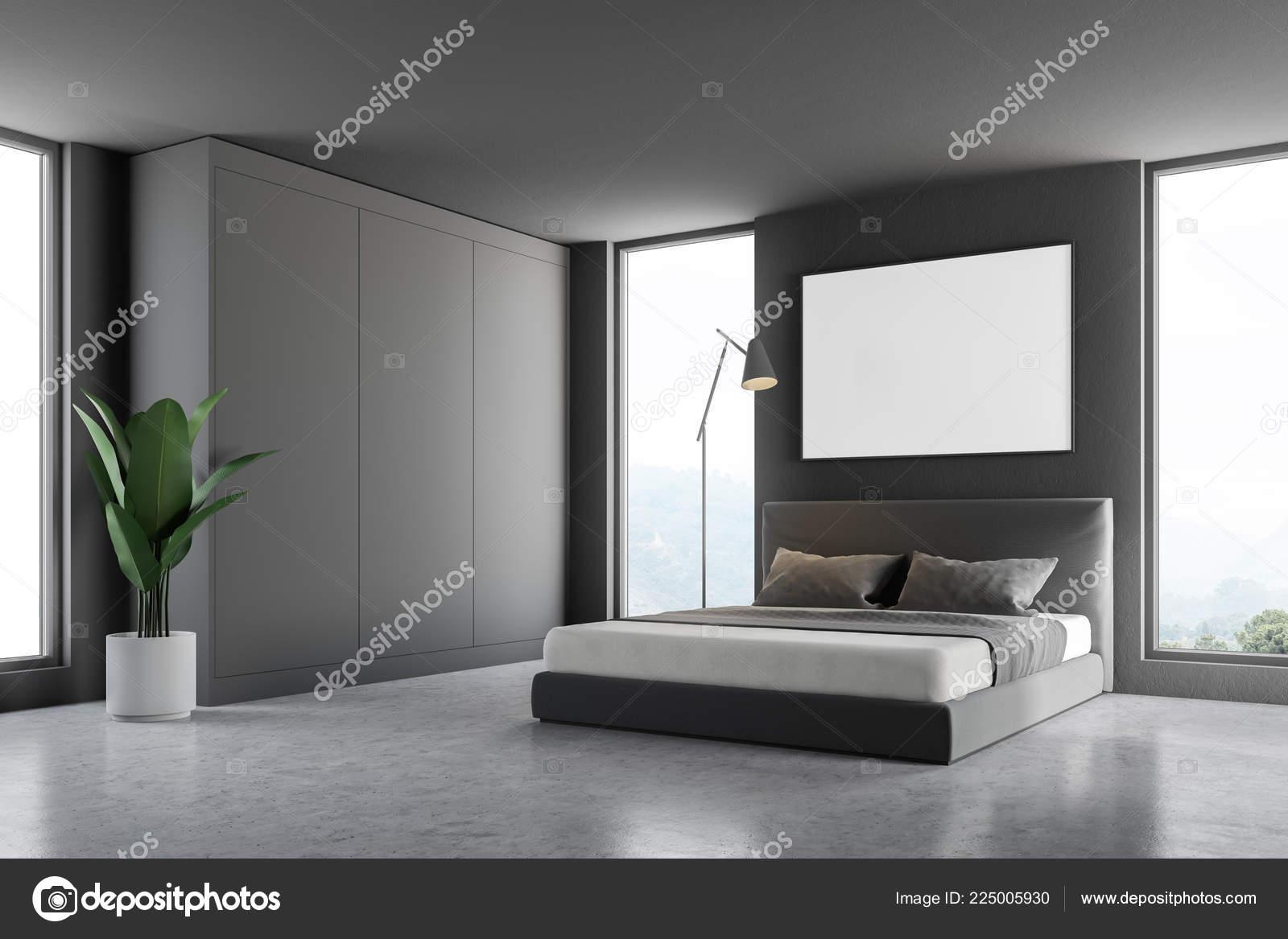 Camere Da Letto Pareti Grigie : Idee per dipingere le pareti della camera da letto fotogallery
