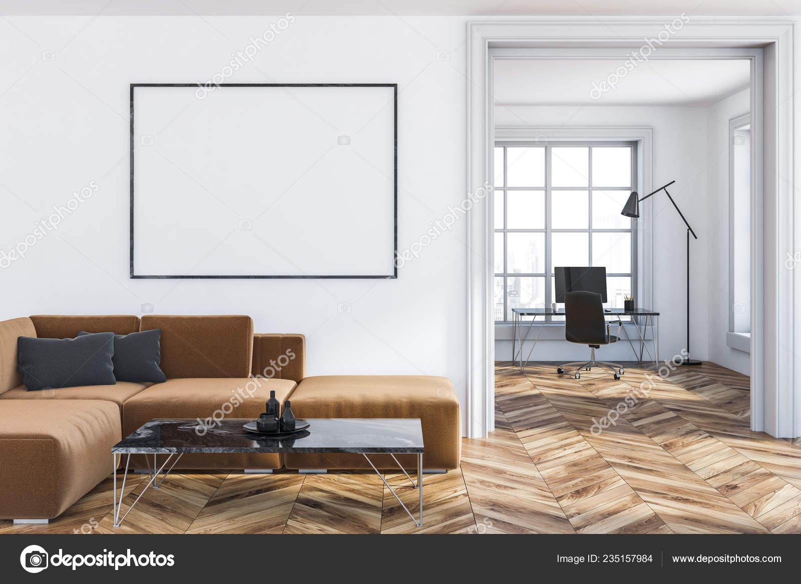 Incredible Interior Living Room White Walls Wooden Floor Brown Sofa Inzonedesignstudio Interior Chair Design Inzonedesignstudiocom
