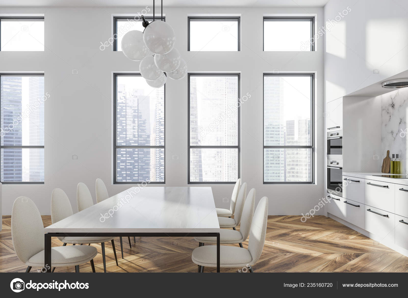 white table and chairs modern