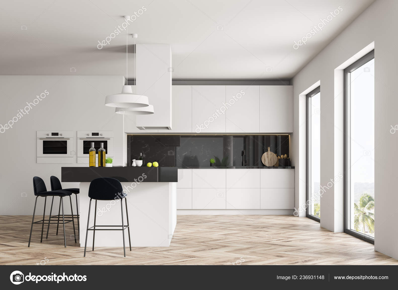 Interior Kitchen White Black Marble Walls Wooden Floor White Countertops Stock Photo C Denisismagilov 236931148,United Checked Baggage Fees
