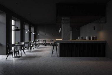 Loft style pub interior