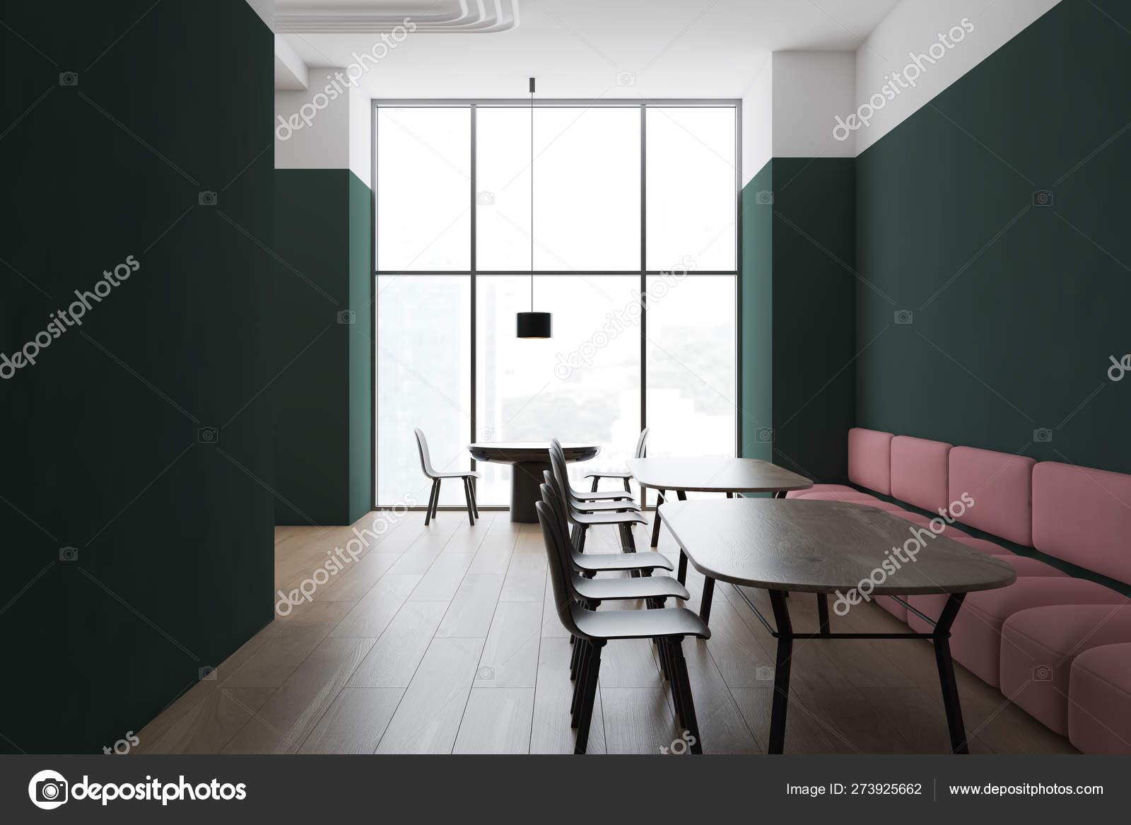Green And White Restaurant Corner With Sofa Stock Photo C Denisismagilov 273925662
