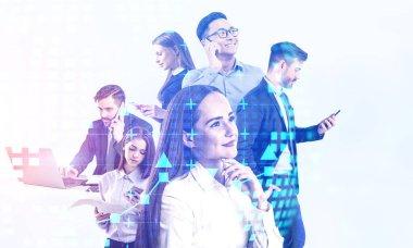 Diverse business people, international company