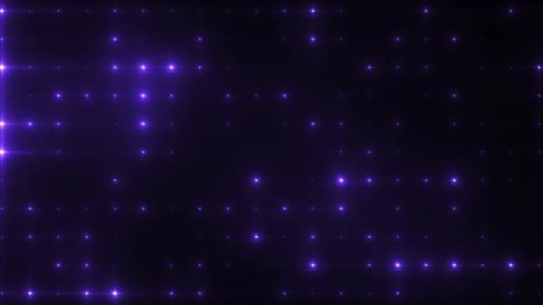Blue disco flashlight with moving shadows on black background animation.