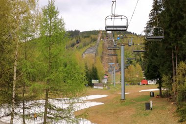 View of Harrachov ski jump in summer