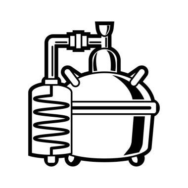 Cooper alcohol distillation unit alembic.