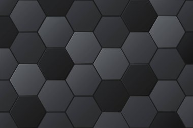 Abstract hexagonal background. Futuristic technology concept. 3d vector illustration.