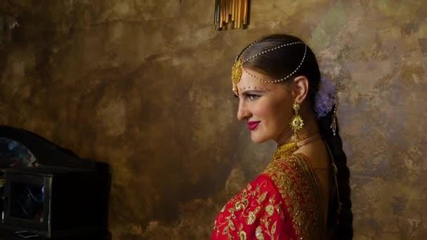 Indische Prinzessin in ihrem Palast