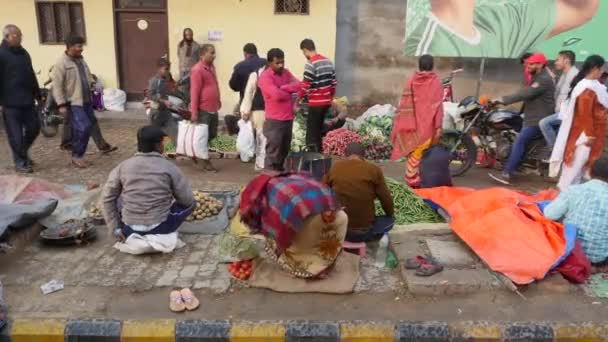 Vegetable traders on the streets of the Indian city