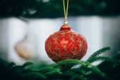 Vánoční ozdoby. Veselé Vánoce a šťastný nový rok