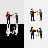 Photo Debt Labor - Bonded Labor - Modern Slavery. Cover Illustration Vector.