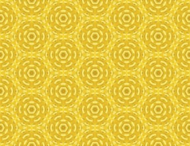 Seamless abstract raster pattern with a motif of a yellow flower