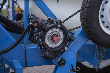 Element of engine system of new modern agricultural tractor or combine or harvester