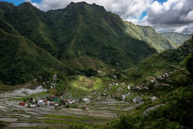 Rice terraces and Banaue village on Philippines