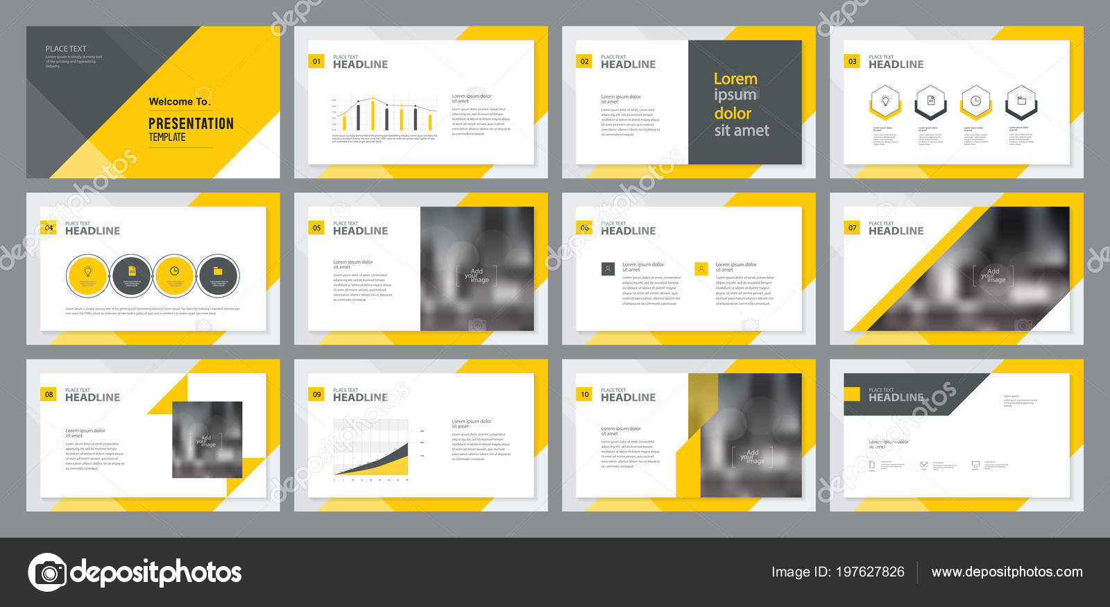 Template Presentation Design Page Layout Design Brochure