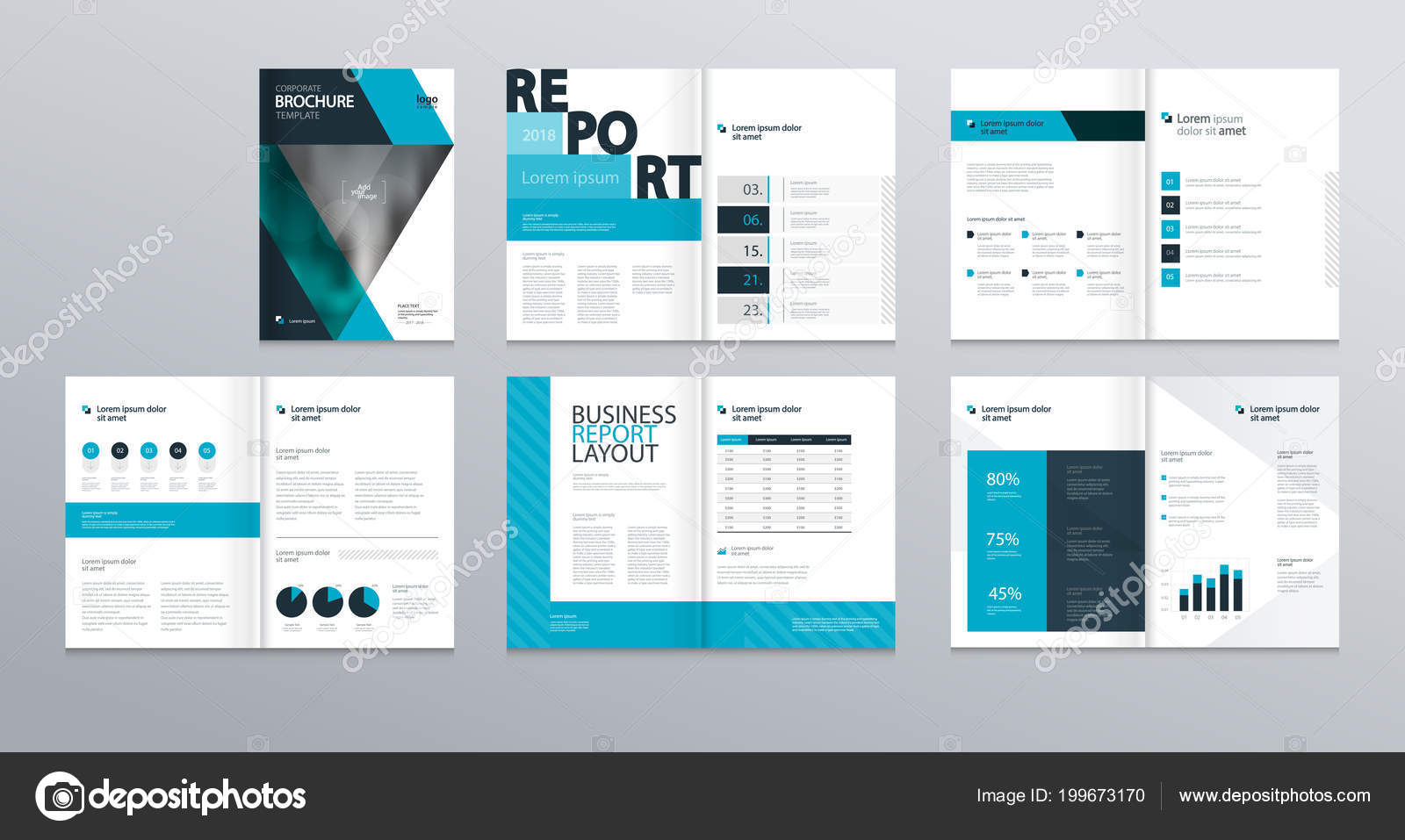 Design Layout Template Company Profile Annual Report Brochures