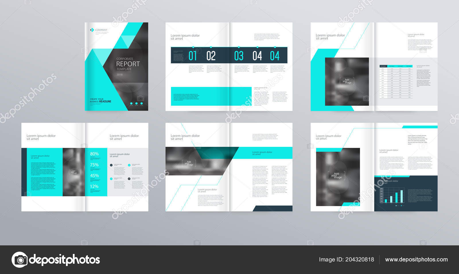 template layout design cover page company profile annual report