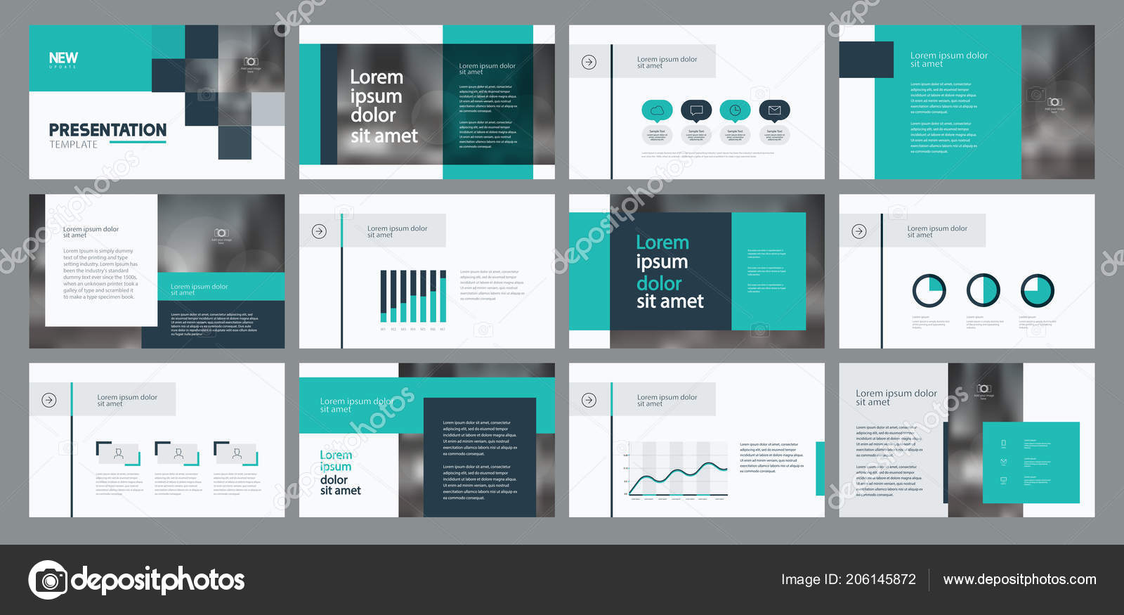 business presentation template design page layout design brochure