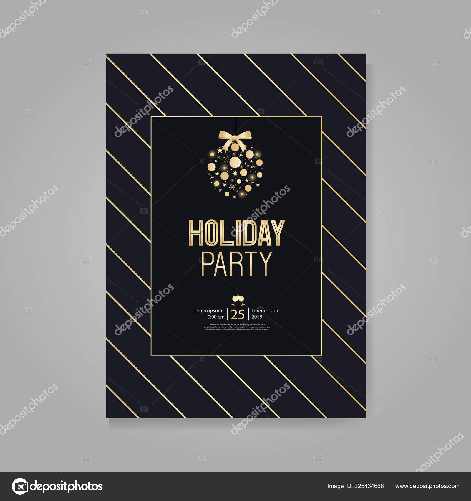 vector illustration design holiday party happy new year party invitation stock vector