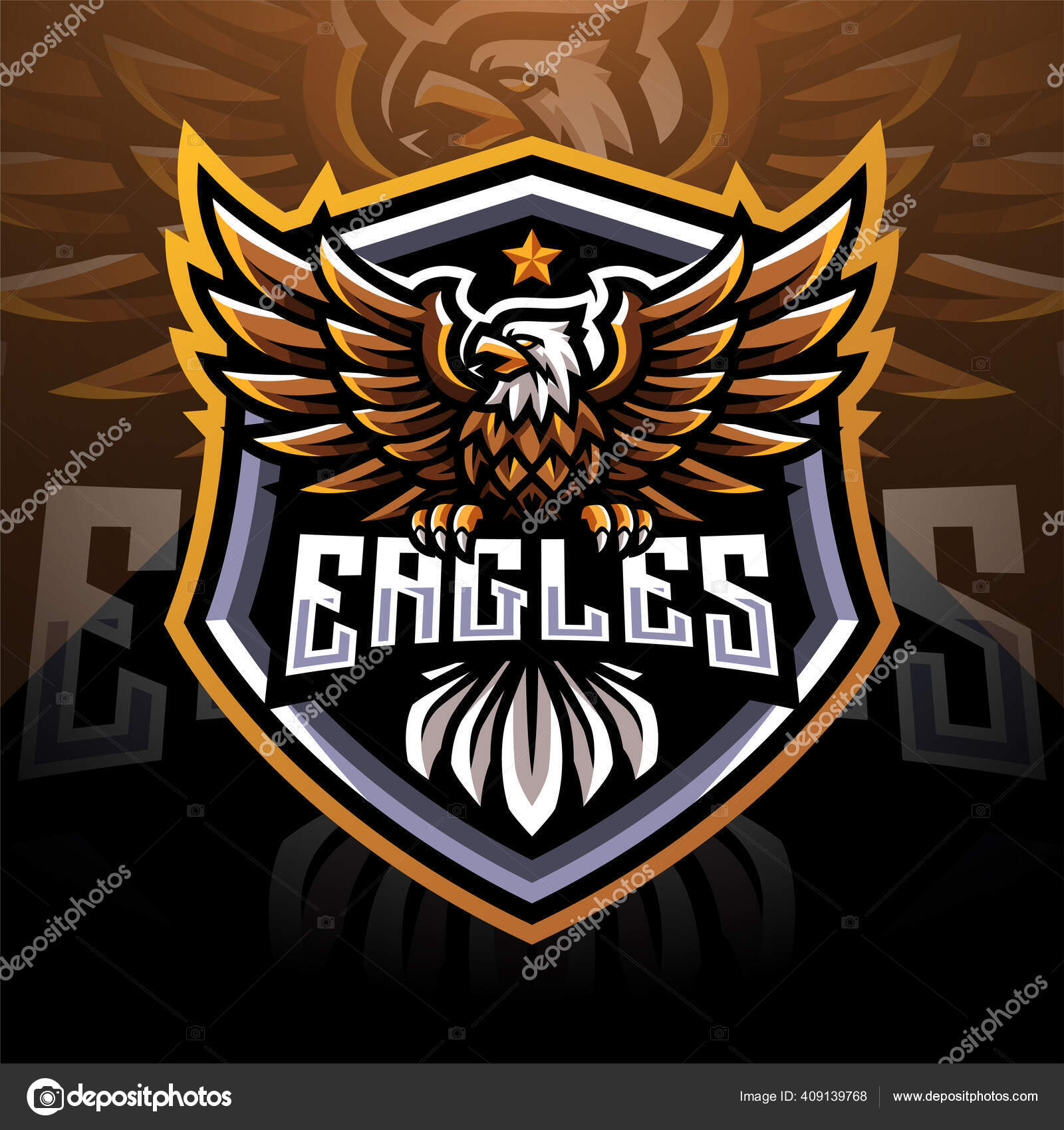 Eagle Esport Mascot Logo Stock Vector Image by ©visink 20
