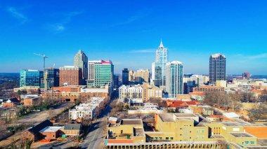 Downtown Raleigh, North Carolina, USA Drone Skyline Aerial View