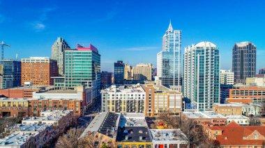 Raleigh North Carolina NC Drone Skyline Aerial