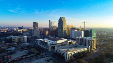 Raleigh, North Carolina, USA Drone Skyline Aerial