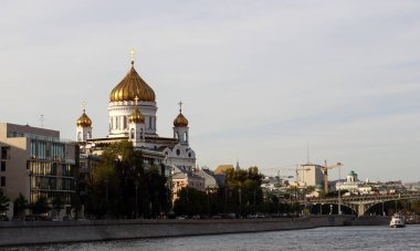 Moscow / Russia - September 02 2020: Cathedral of Christ the Savior.