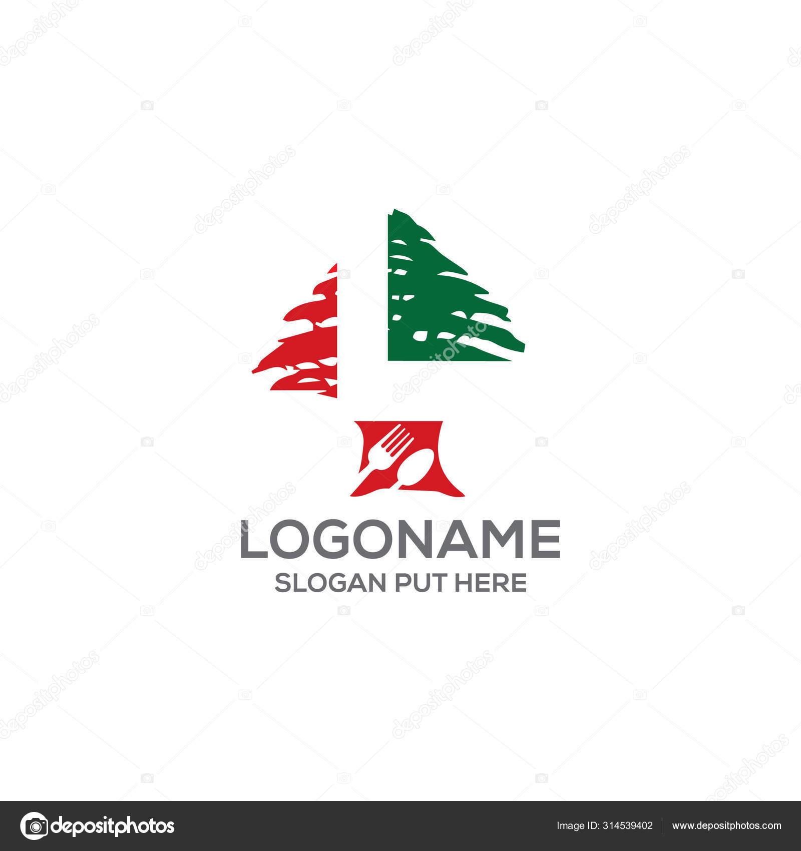 Creative Modern Lebanese Food Logo Design Template Restaurant Company Business Stock Vector C Sahelahmedbd83 314539402