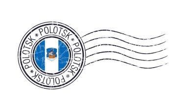 Polotsk city grunge postal rubber stamp