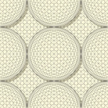 Seamless sphere pattern